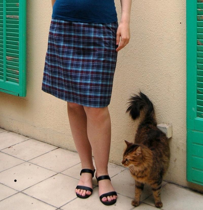A-line tartan skirt