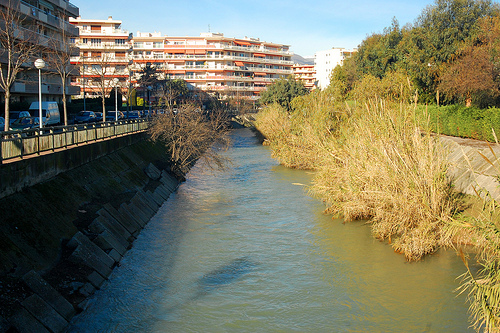 La Cagne - river through Cagnes