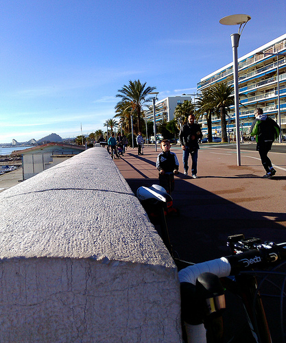 Cycling in Cagnes
