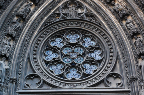 Church of Saint Ouen, west rose window