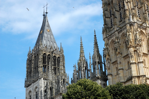 Rouen Cathedral towers