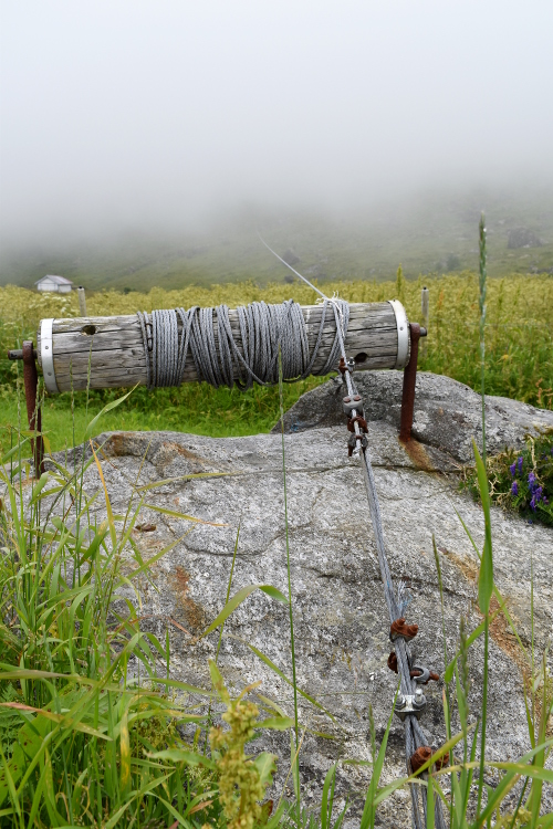 Peat winch, Lofoten, Norway